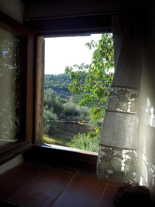 A nossa janela no Le Fate, não é linda a vista?