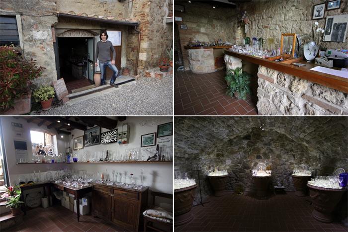 Luciano Bandinelli e La Grotta del Cristallo, onde sua família decora cristais manualmente