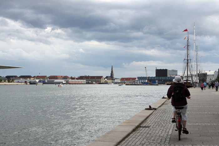 Vista do calçadão de Langelinie em Copenhague