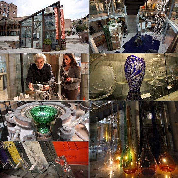 Visita ao Museu do Cristal e o designer Duccio Santini mostrando como se desenha no cristal