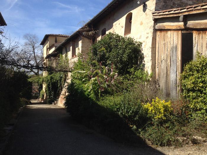 Chegando ao Relais della Rovere em Colle di Val d'Elsa