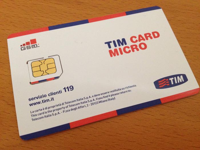 O SIM card da TIM que eu comprei