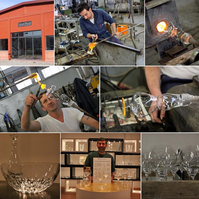 Tour da ColleVilca com os artesãos trabalhando e as peças prontas no showroom