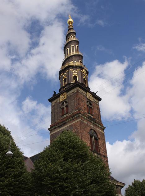 A torre mais bonita, da Vor Frelsers Kirke