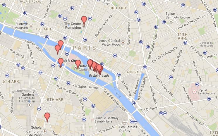 Mapa Dia 3 Paris