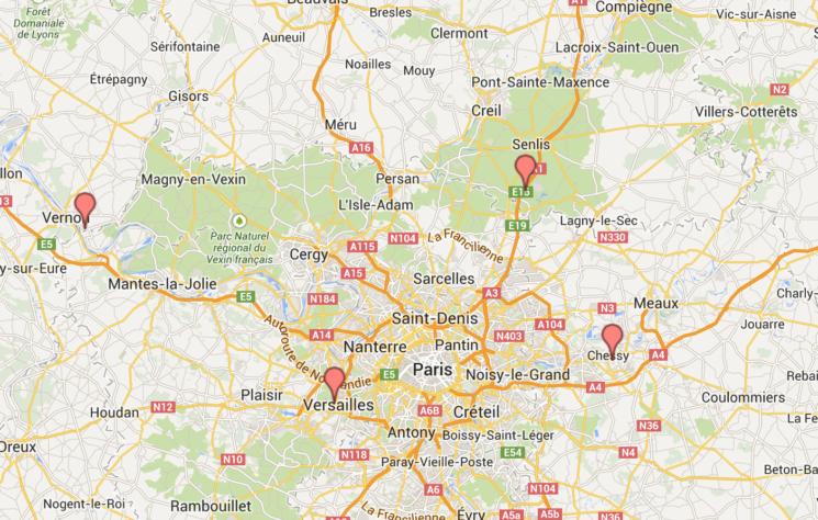 Mapa dia 4 Paris
