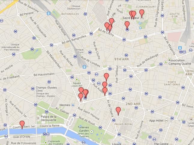 Mapa Dia 5 Paris