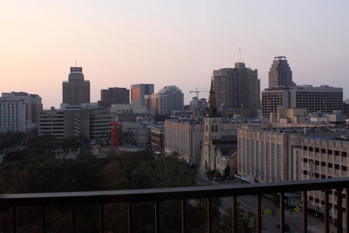 onde ficar em San Antonio: Nossa vista no Marriott Riverwalk