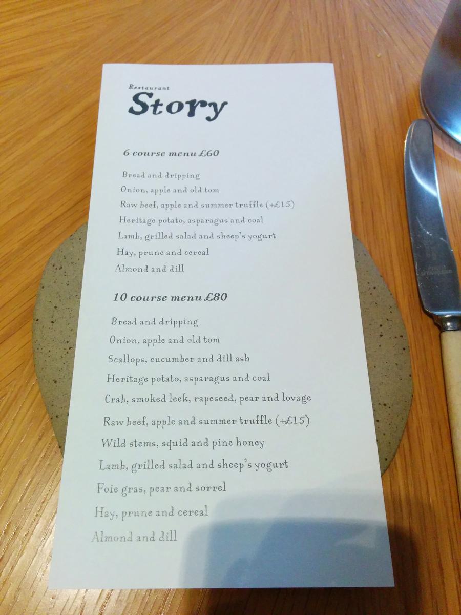 Restaurante Story em Londres