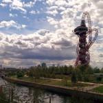 Londres do alto: ArcelorMittal Orbit no Parque Olímpico
