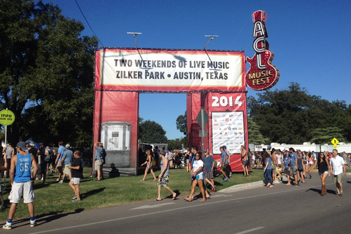 Chegando no ACL Festival