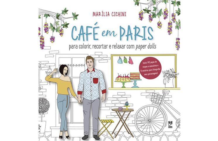 livro de colorir viagem cafe em paris