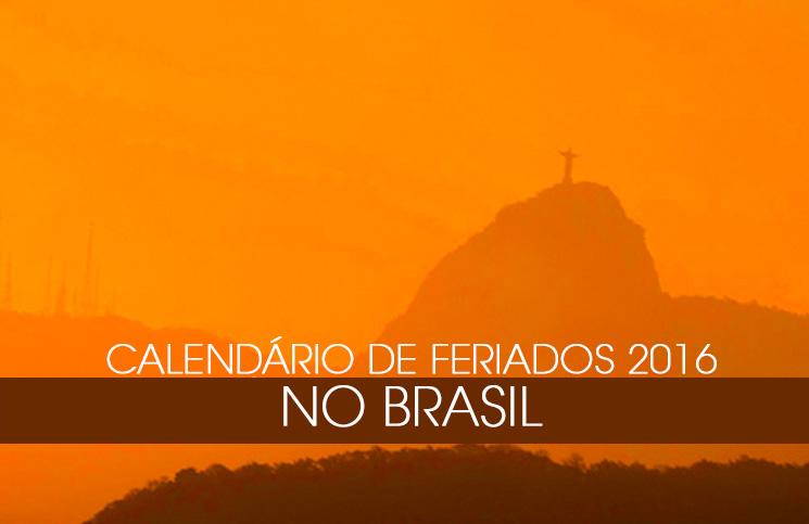 Calendários de Feriados 2016 no Brasil