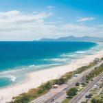 Foto da praia vista de cima