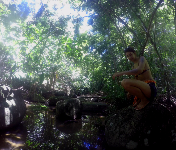 Cachoeira na trilha da Feiticeira