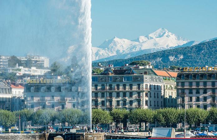 Genebra e eos Alpes