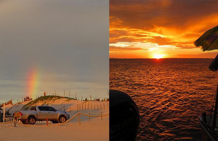 Arco Íris e pôr do sol Rio Preguiças