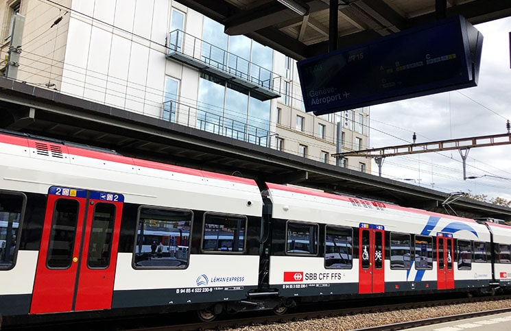 trem para aeroporto de genebra