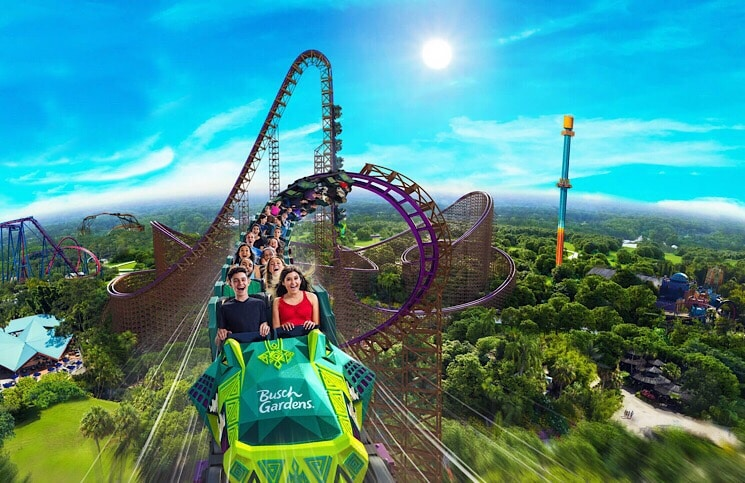 Novas montanhas-russas Busch Gardens e Sea World