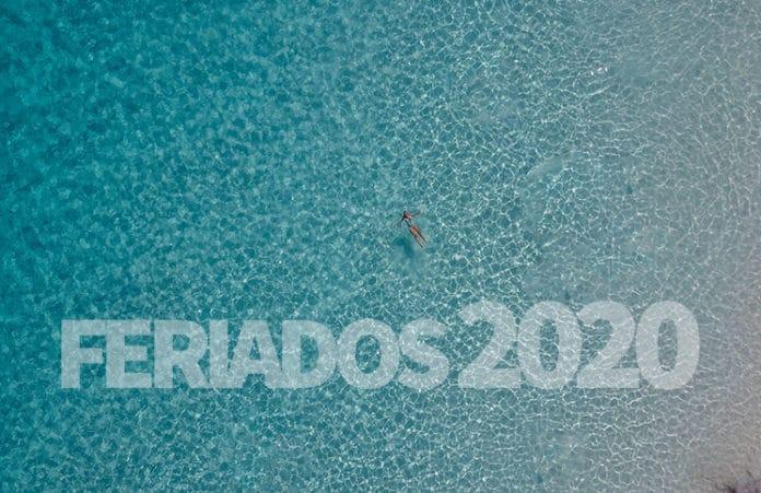 Calendario de feriados no Brasil em 2020