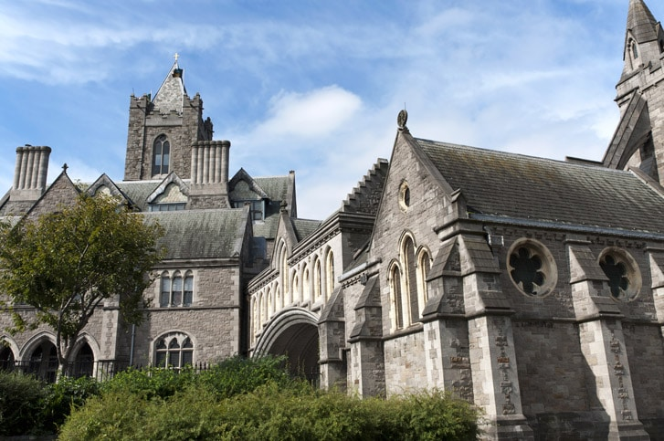 Christ Church Cathedral in Dublin, Ireland,