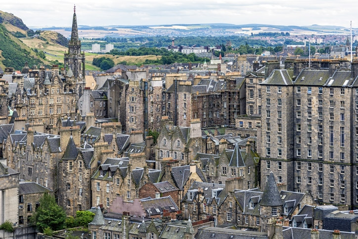 Edinburgh Old Town is Scotland, United Kingdom.