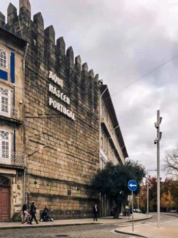 muro aqui nasceu portugal
