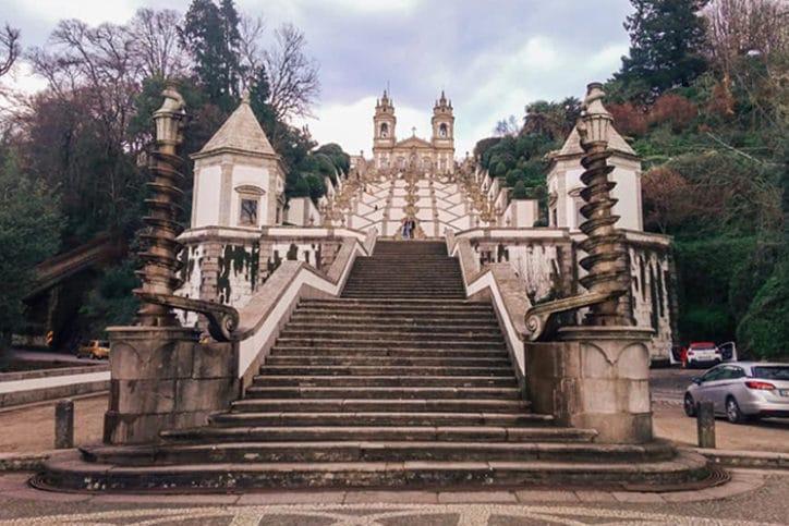 Escadaria e capela de Bom Jesus do Monte